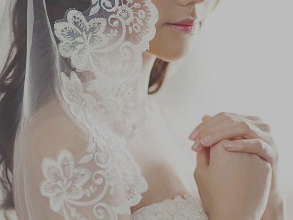 Woman in bridal-wear