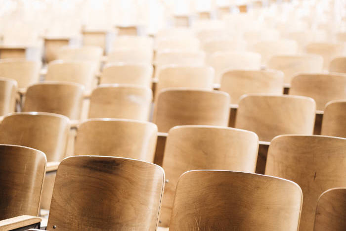 Chairs arranged for a conference or seminar