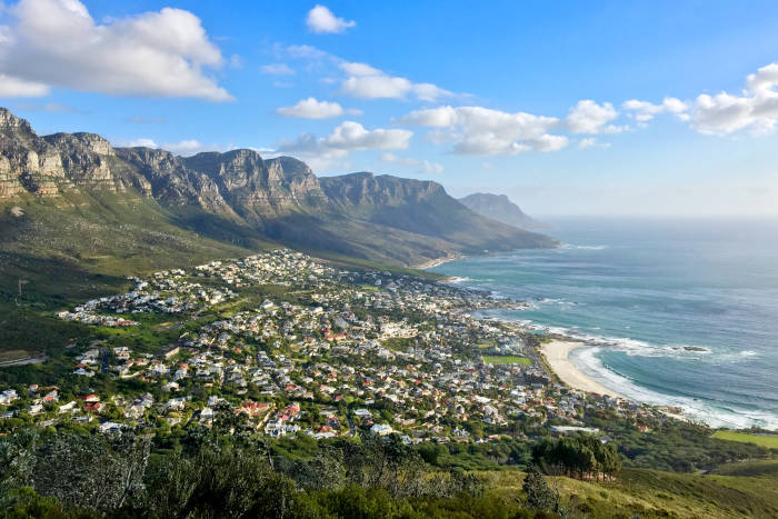 The sea and mountains by Camps Bay